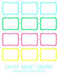 Blank Coupon Templates Template Basket Template Printable Blank Coupon Templates Easter 18