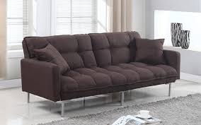 futon sofa bed. Verne Modern Linen Plush Futon In Brown Sofa Bed