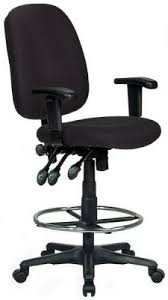 office drafting chair. Ergonomic Drafting Chair In Black Upholstery Office F