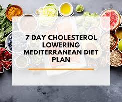 7 Day Cholesterol Lowering Mediterranean Diet Plan Pdf