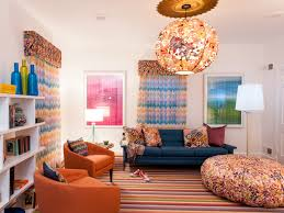 Amazing Decor For Kids Playroom With Mod Furniture, Striped Rug, And Funky  Chandelier (