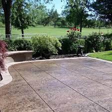 concrete patio cost stamped concrete