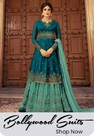Blue Green Online Indian Clothing Online Buy Sarees Salwar Suits Lehengas