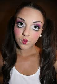 look porcelain doll makeup beauty