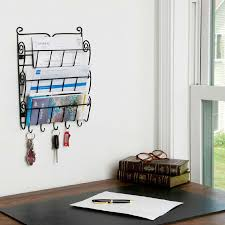 3 tier letter mail rack with key holder office kitchen wall photo details these photo