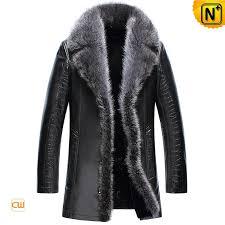 shearling mens coats fur trim cw852556 cwmalls com