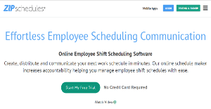 Online Shift Schedule Maker Zip Schedules Reviews Overview Pricing And Features