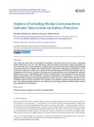 Pdf Studies Of Grinding Media Corrosion From Galvanic