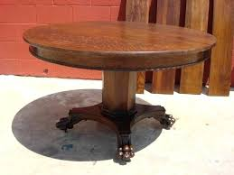 antique round dining table vintage styles tables and chairs