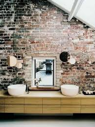 White Exposed Brick Wall 20 Dashingly Contemporary Bathroom Designs With Exposed Brick