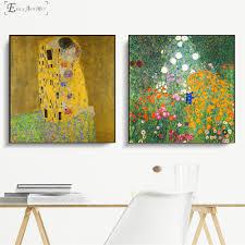 <b>Gustav Klimt Kiss Classic</b> Series Vintage Poster Prints Oil Painting ...