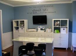 elegant home office room decor. Ideas With Blue Painted Home Office Color Elegant Room Decor
