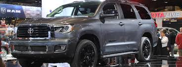2018 toyota sequoia limited. contemporary limited gray 2018 toyota sequoia trd sport front and side exterior on stage at  2017 chicago auto in toyota sequoia limited