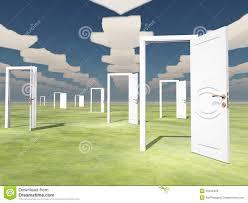 many open doors. Simple Open Many Open Doors With Arrow Clouds To Open Doors