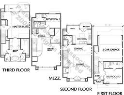 Three Story Multi Family Plan And Full DetailsThree Story Floor Plans