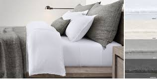 restoration hardware linen sheets. Brilliant Hardware Linen Frayed Edge Bedding Collection Free Shipping Intended Restoration Hardware Sheets A