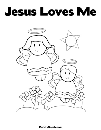 Small Picture God Loves Me Coloring Page fablesfromthefriendscom