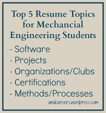 Resume Topics Extraordinary Top 60 Resume Topics For Mechanical Engineering Students Peer Into