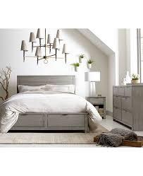 Furniture Tribeca Grey Storage California King Platform Bed, Created ...