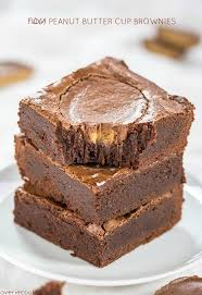 peanut butter cup brownies. Perfect Peanut Fudgy Peanut Butter Cup Brownies  Easy Onebowl No Mixer Brownies With Inside E