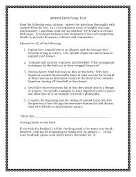 Animal Farm Essay Animal Farm Essay Test