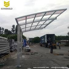 free standing aluminum patio cover. Silver Polycarbonate Carport \u2013 Single Aluminum Patio Cover Freestanding Arched Customized Shed Sunshield Shelter Free Standing