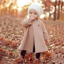 2016 new autumn winter girls woolen outwear children fashion double ted trench coats kids cotton warm jacket baby girl windbreaker canada 2018 from