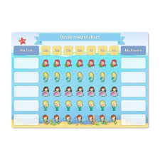 My Reward Board Personalised Dry Wipe White Board Reward Charts With A Mermaid Theme
