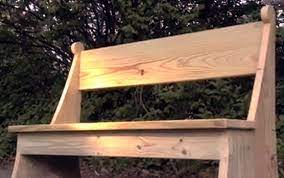 how to make a lovely garden bench this