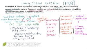 ap us history long essay example us history khan academy  ap us history long essay example 2 us history khan academy