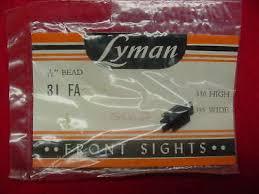 Lyman Front Sight Chart Lyman Front Blade Sight Gold Bead Winchester 70 94 43 64 92