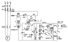 automations \u003e motor control circuits \u003e three phase asynchronous Ptc Relay Wiring Diagram three phase asynchronous motor ptc protection circuits schematic Current Relay Wiring Diagram