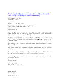 Promotion Announcement Letter Professional Bid Template Reference