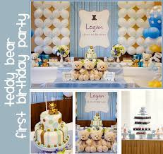 baby first birthday ideas for boy | First Birthday Teddy Bear Theme Party  from The White
