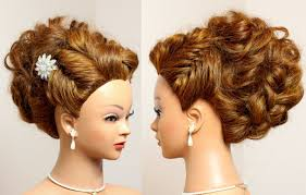 Wedding Hair Style Up Do prom bridal updo hairstyle for long hair tutorial youtube 7141 by wearticles.com