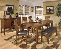 ashley d580 owingsville leg table with bench ashley d594 ralene