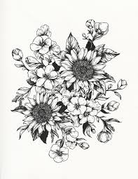 Small Picture Best 25 Sunflower drawing ideas on Pinterest Sunflower tattoos