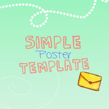 Simple Poster Template By Muhan Ui On Deviantart