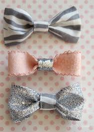 craft your own sparkly little hair bows