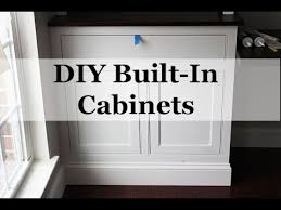 diy built in cabinets with beaded face frames
