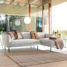 right hand corner sofa light grey