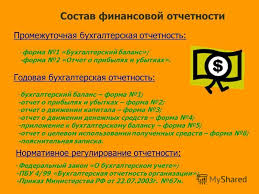 Презентация на тему КУРСОВАЯ РАБОТА по дисциплине Бухгалтерская  5 Состав финансовой отчетности