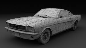 ArtStation - Ford Mustang '65, Paul Paslea
