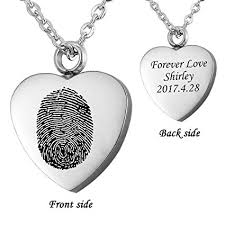 amazon hooami fingerprint heart urn necklace personalized custom end cremation jewelry