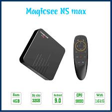Android Tivi Box Magicsee N5 Max phiên bản 2021 - Ram 4GB, Rom 32Gb,  Android 9.0 ( Có Bản ATV) - Điều khiển giọng nói giá cạnh tranh