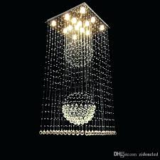 raindrop light contemporary square crystal chandeliers raindrop flush ceiling light stair pendant lights fixtures hotel villa crystal ball led raindrop