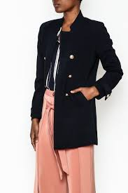 wren willa gold on peacoat front cropped image