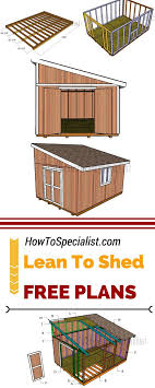 Lean To Garden Shed Designs 12 X 16 Lean To Shed Plans Diy Storage Shed Plans Lean To