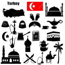 Traditional Symbols Traditional Symbols Of Turkey On White Background Royalty Free