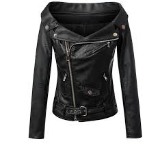 fitaylor autumn women faux leather jacket
